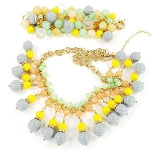 J. Crew Necklace + Bracelet Glossy Beads